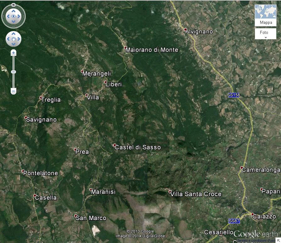 Area storica di coltivazione del Casavecchia
