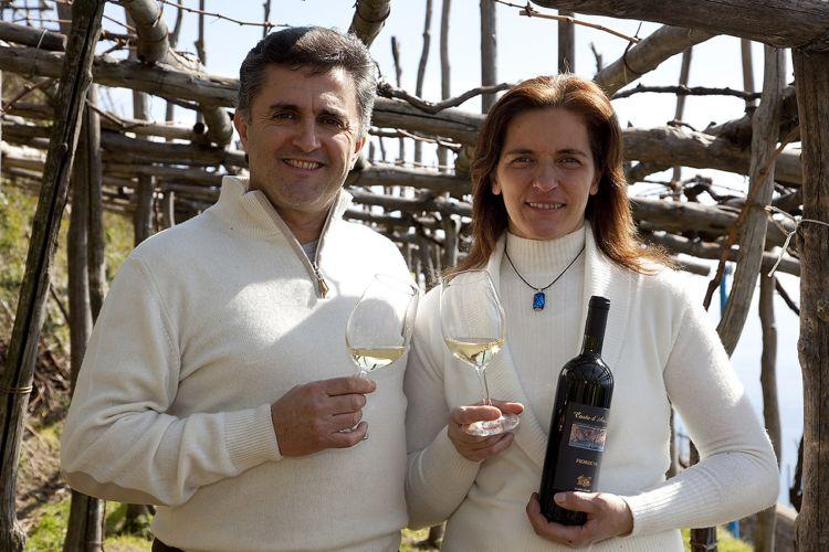 Andrea Ferraioli e Marisa Cuomo, produttori a Furore (SA)