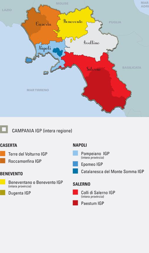 Campania denominazioni IGP