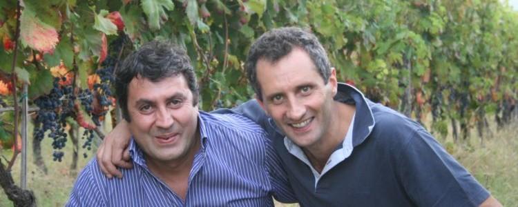 Carmine Valentino (enologo) e Massimo Alois (produttore a Pontelatone, in provincia di Caserta)