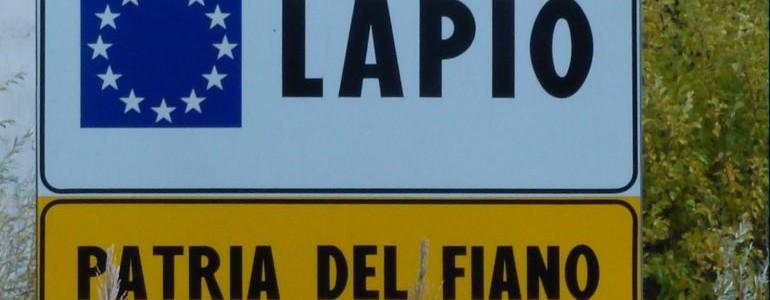 Cartello benvenuto Lapio