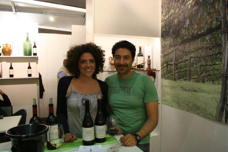 Diana Iannaccone e Mario Basco, proprietari della masseria I Cacciagalli di Teano (CE)
