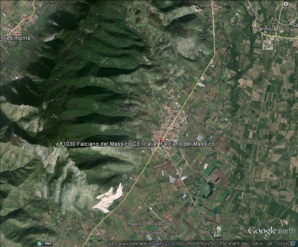 il territorio di Falciano del Massico, versante sud-est del Massico