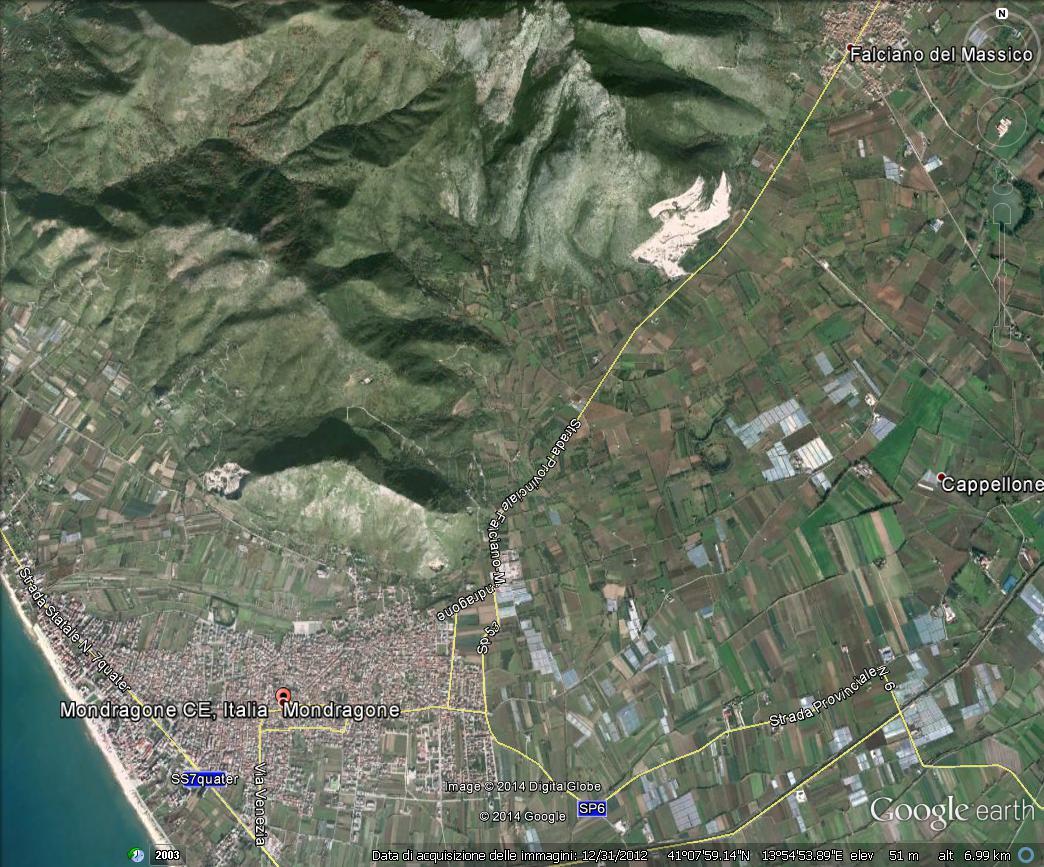 Il territorio di Mondragone, versante meridionale del Massico