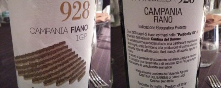 Cantina del Barone - Campania Fiano Particella 928 2012