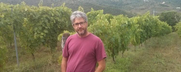 Salvatore Magnoni nella sua vigna a Rutino (SA)