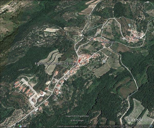 La frazione Tuoro di Sessa Aurunca, versante nord del Massico