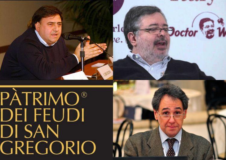 In senso orario, partendo da in alto a sinistra: Vincenzo Ercolino, Daniele Cernilli, Franco Ziliani