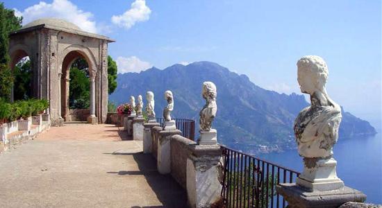 Veduta sulla costa amalfitana da una Villa Romana di Ravello - Crediti foto: amalfi-coast.com