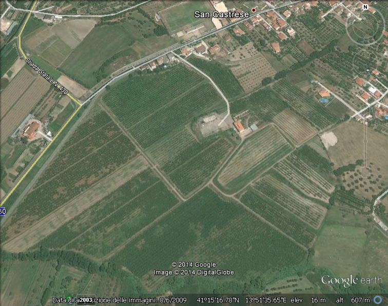 Zona San Castrese di Sessa Aurunca - Google Earth