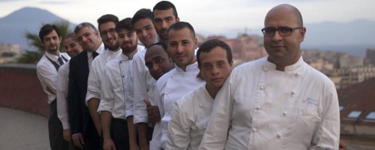 """Lo staff del Ristorante """"Veritas"""" di Napoli"""