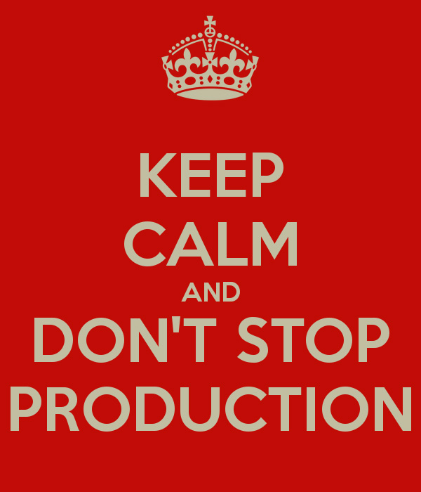 stop production